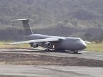 C-5 Galaxy Short Runway Take Off In El Salvador