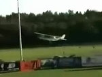 Cessna Makes An Emergency Landing On A Baseball Field During Game