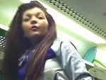 Chav Making A Cunt Of Herself On The Tube