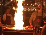 Chef Accidentally Sets Off The Fire Suppression