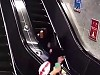 Chinese Woman Eats It Fucking Hard On An Escalator