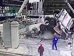 Concrete Truck Goes Arse Over Into The Excavation