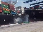 Container Ships Collide In Port And Shit Goes Everywhere Wow