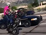 Cop Draws His Gun On A Rider Popping A Mono Wtf