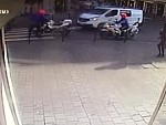 Cop Runs A Pedestrian Crossing And Guess What Happens