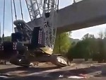 Crawler Crane Goes Over Trying To Lift Too Much