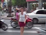 Crossing The Street In Vietnam Is That Easy