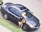 Cunty Blonde Spots An Ex Boyfriends Car And Scratches It To Hell