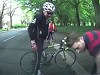 Cyclist Did Not Keep His Head Up