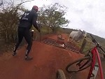Cyclists Try And Move On A Cow But Guess Who Aint Having It