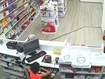 Dad Distracts The Pharmacist Whilst His Son Robs The Register