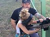 Dad Teaches Daughter How To Use A Sniper Rifle