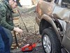 Dad Tests Out Tyre Inflation Science With Hilarious Results