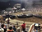 Demolition Derby Goes Badly For An Official Standing Too Close