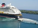 Disney Cruise Ship Backs Into The Pier Oops