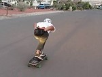 Downhill Skater Going Great Until One Little Mistake