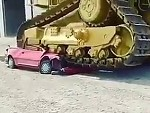Dozer Vs Car Who Will Win?