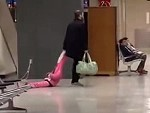 Drags His Daughter Through The Airport Because Easier This Way