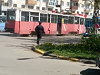 Driverless Tram Takes Out A Group Of Bikers Somewhere In Kazakhstan