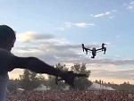 Drone Filming A DJ Accidentally Taken Out By Pyrotechnics