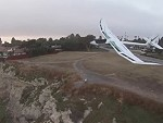Drone Filming A Glider Goes For An Unexpectedly Close Look