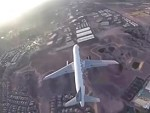 Drone Idiot Flies Above A Passing Jet Near Vegas Airport