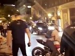Drunk Guy Takes On A Rider And Gets KTFO