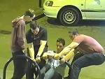 Drunk Guys Do Some Good Whilst Waiting For A Kebab