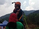 Dumbass Dad Bungee Jumps With His Unharnessed Kid