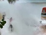 Dumbass Gets Smashed By A Hurricane Irma Storm Surge