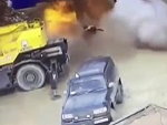 Dummies Weld A Huge Gas Cylinder And Shit Goes Bang
