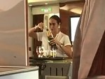 Emirates Hostess Spotted Recycling Champagne Back In First Class