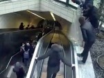 Escalator Breaks And Swallows A Man Ouch