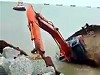 Excavator Apparently Couldn't Save Itself