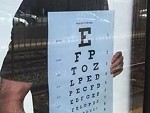 Eye Test Requires You To Stand At Least 10 Feet Back