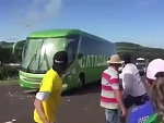 Fans Attack The Brazil Team Bus After Their Loss