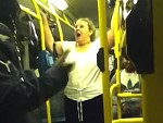 Fat Racist Bitch Making A Cunt Of Herself On The Bus