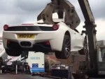 Ferrari Crushed Because It Had No Insurance And Unroadworthy
