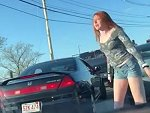 Fiery Redhead Road Rage Is Quite Entertaining
