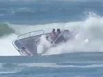 Fishing Boat Attempts To Surf A Wave But That's Not Possible