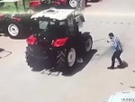 Fool Is Crushed To Death By A Tractor