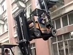 Forklift Lifting A Forklift Lifting A Washing Machine Wait For It