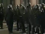 French Riot Cop Attacks One Of His Colleagues