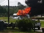 Gas Tanker Goes Up In Flames And Its God Damn Spectacular
