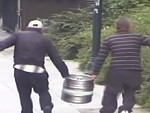 Geniuses Steal A Keg And Try To Hide It In The Garden
