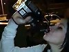 Girl Chugs An Entire Bottle Of Spirits That Aint Going To End Well