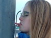 Girl Got Her Tongue Stuck To A Frozen Pole