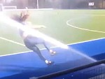 Girl Sucks At Pitch Invading