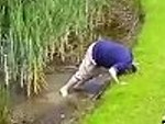 Golfer Succumbs To The Water Hazard