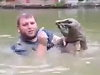 Guy Pulls A Snapping Turtle Out Bare Handed Because Idiot